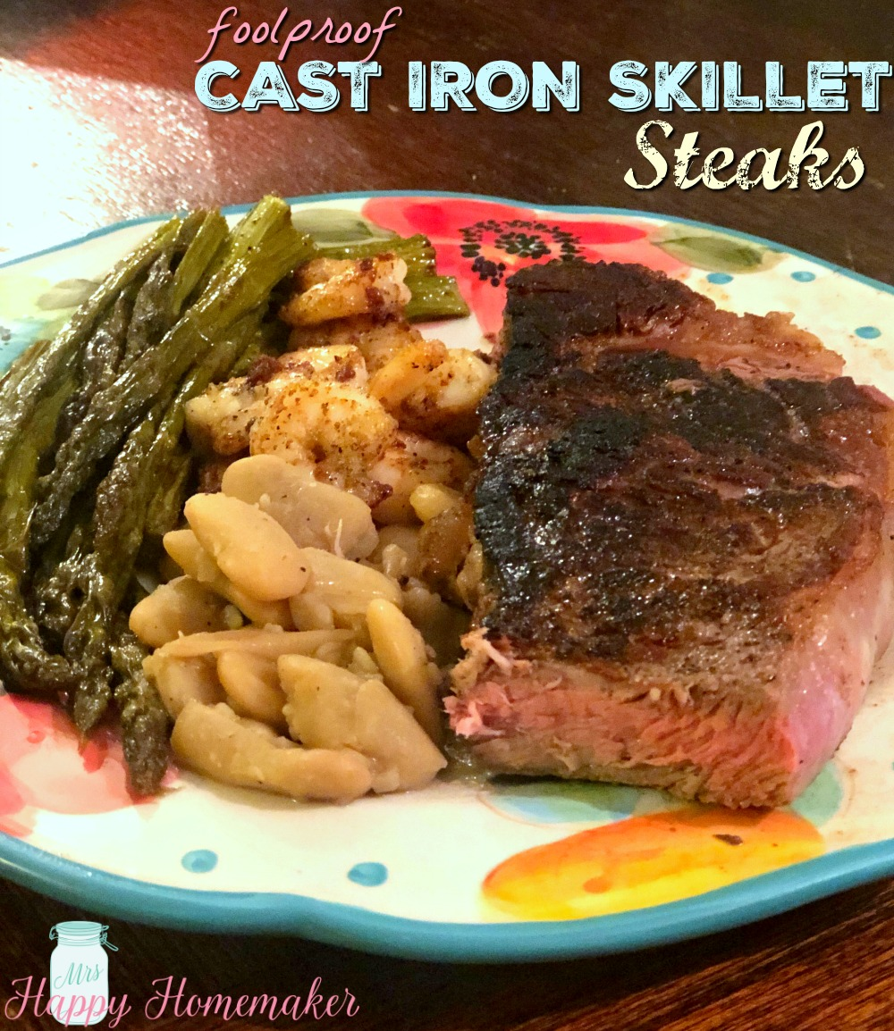 Foolproof Cast Iron Skillet Steaks