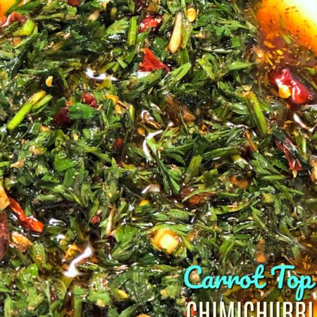 Carrot Top Chimichurri Sauce