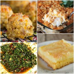 collage of 4 featured recipes from meal plan Monday