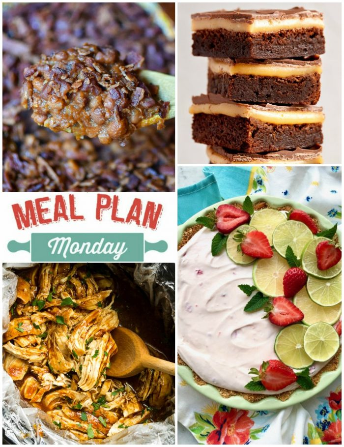 Meal Plan Monday collage of featured recipes