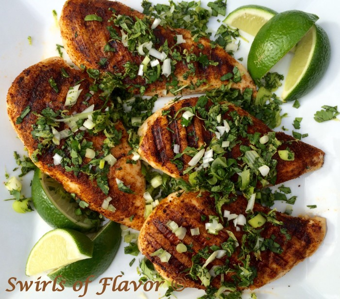 Grilled Chili Spiced Chicken with Cilantro Lime Gremolata