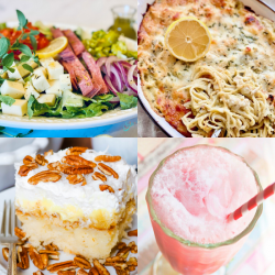 meal plan Monday featured collage of four recipes