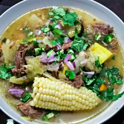 Caldo de Res - Mexican Beef Soup in a bowl