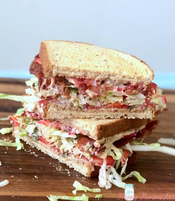 Strawberry Balsamic BLT Sandwich