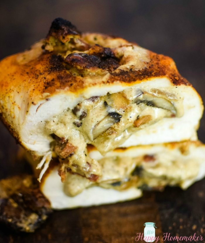 stuffed mushroom spiraled chicken featured at Meal Plan Monday 232