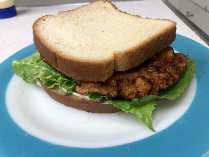 Fried Pork Tenderloin Sandwich