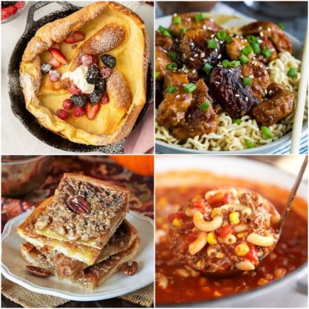 collage of meal plan Monday featured recipes