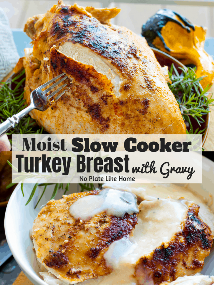 turkey breast cooked in the slow cooker
