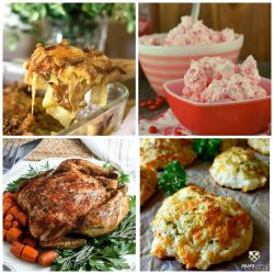 Meal plan monday featured recipe collage of 4 recipes