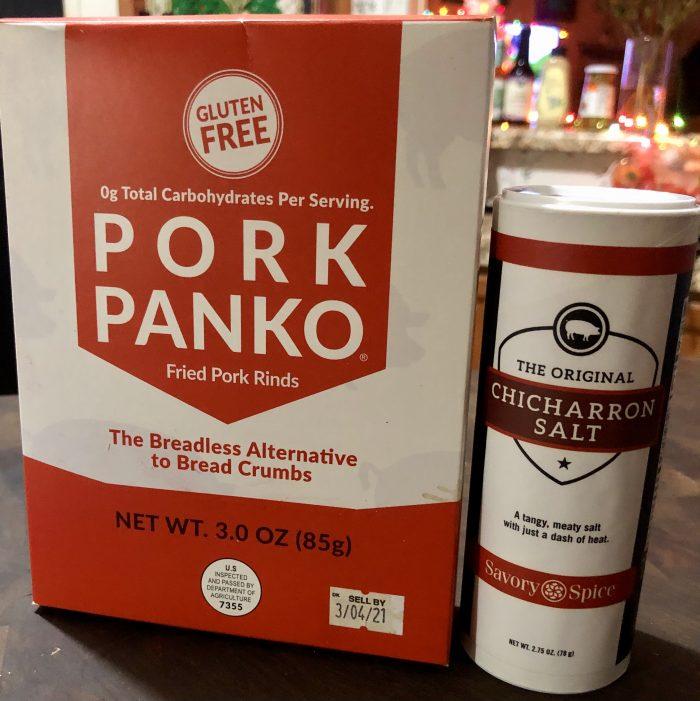 Pork panko and chicharron salt