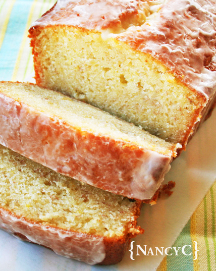 Sliced Banana Pound Cake