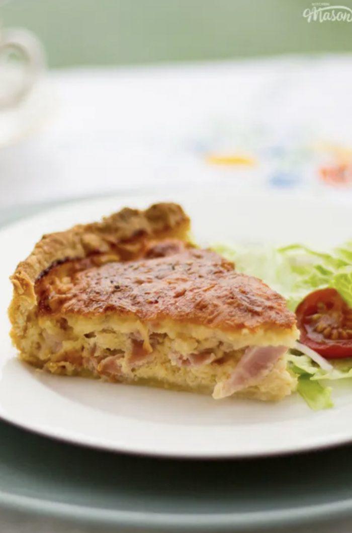 Gran's incredible ham cheese quiche