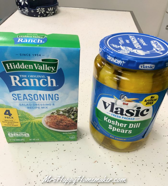 2 Ingredient Ranch Pickles