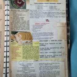 Old vintage recipe clippings