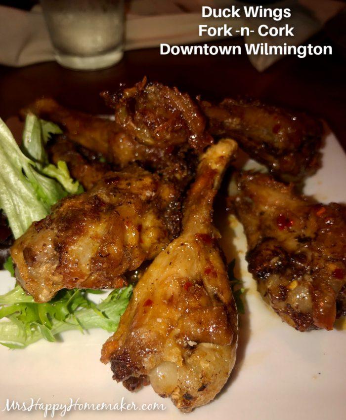 Duck wings - fork -n- cork Wilmington nc