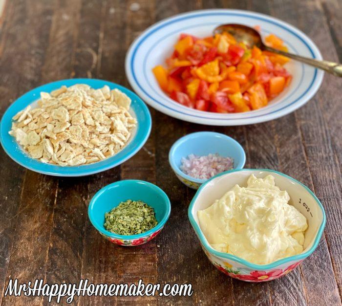 Cracker salad cast of ingredients