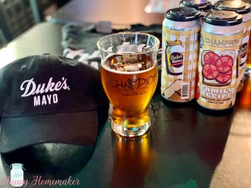 Dukes mayo and champion beer