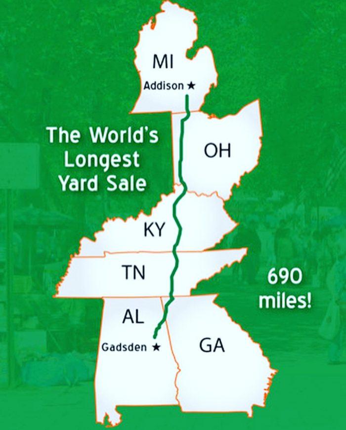World's longest yard sale