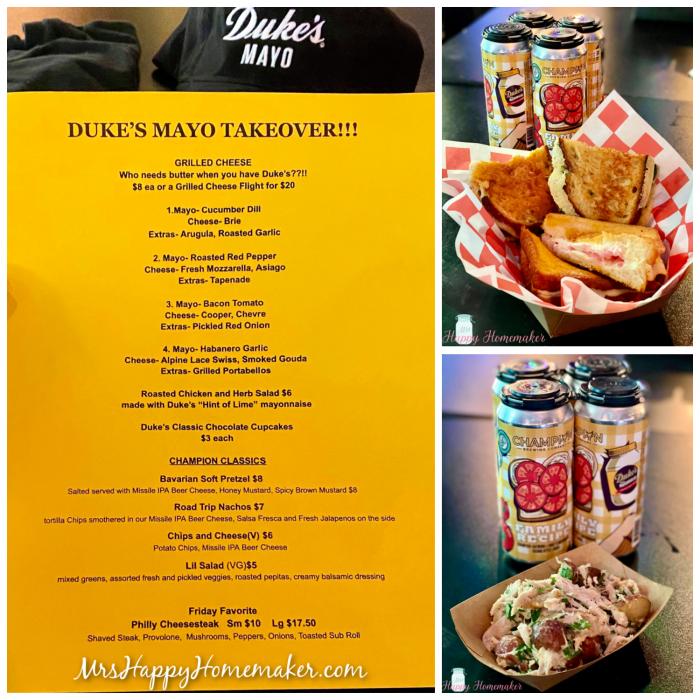 Dukes Mayo beer and menu takeover
