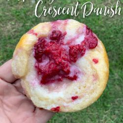 Raspberry Lime Crescent Danish