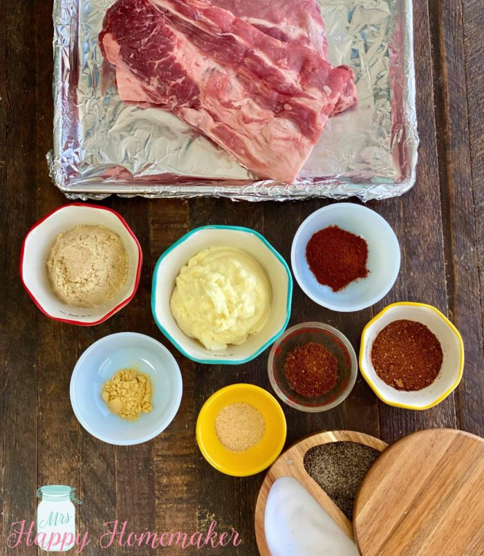 Dukes Mayo Crusted Ribs ingredients