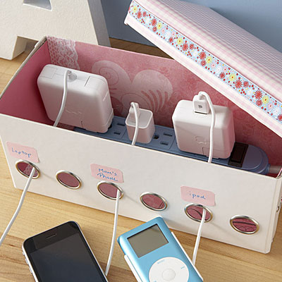 Diy Charging Station Mrs Happy Homemaker