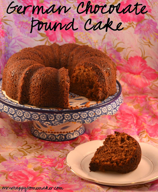 German Chocolate Pound Cake Mrs Happy Homemaker