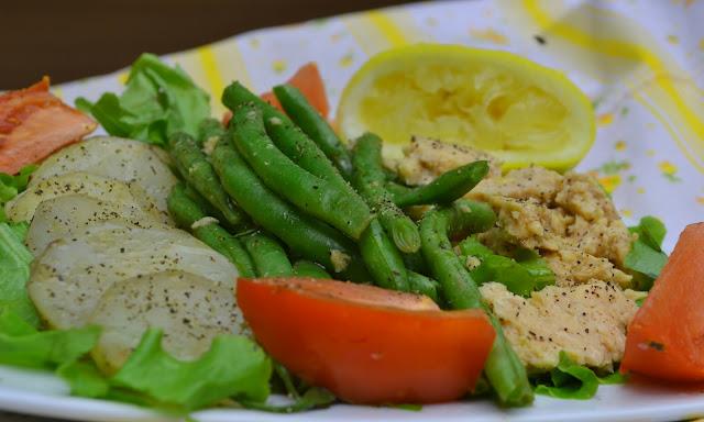 Salmon, Potato, and Green Bean Salad