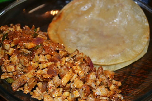 pork tacos - pork and corn tortillas