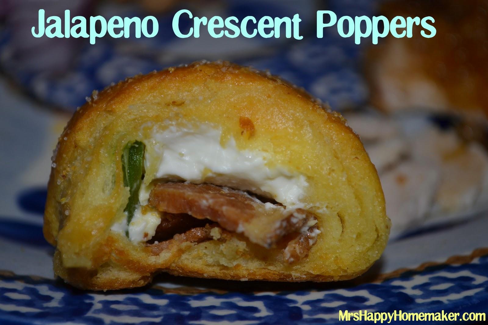 Bacon Jalapeno Crescent Poppers - Mrs Happy Homemaker