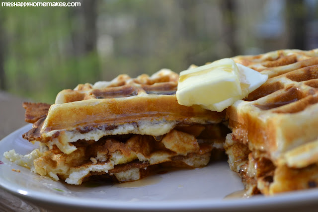 Brown Sugar Bacon Stuffed Waffles