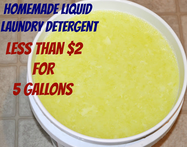 Homemade Liquid Laundry Detergent, Less