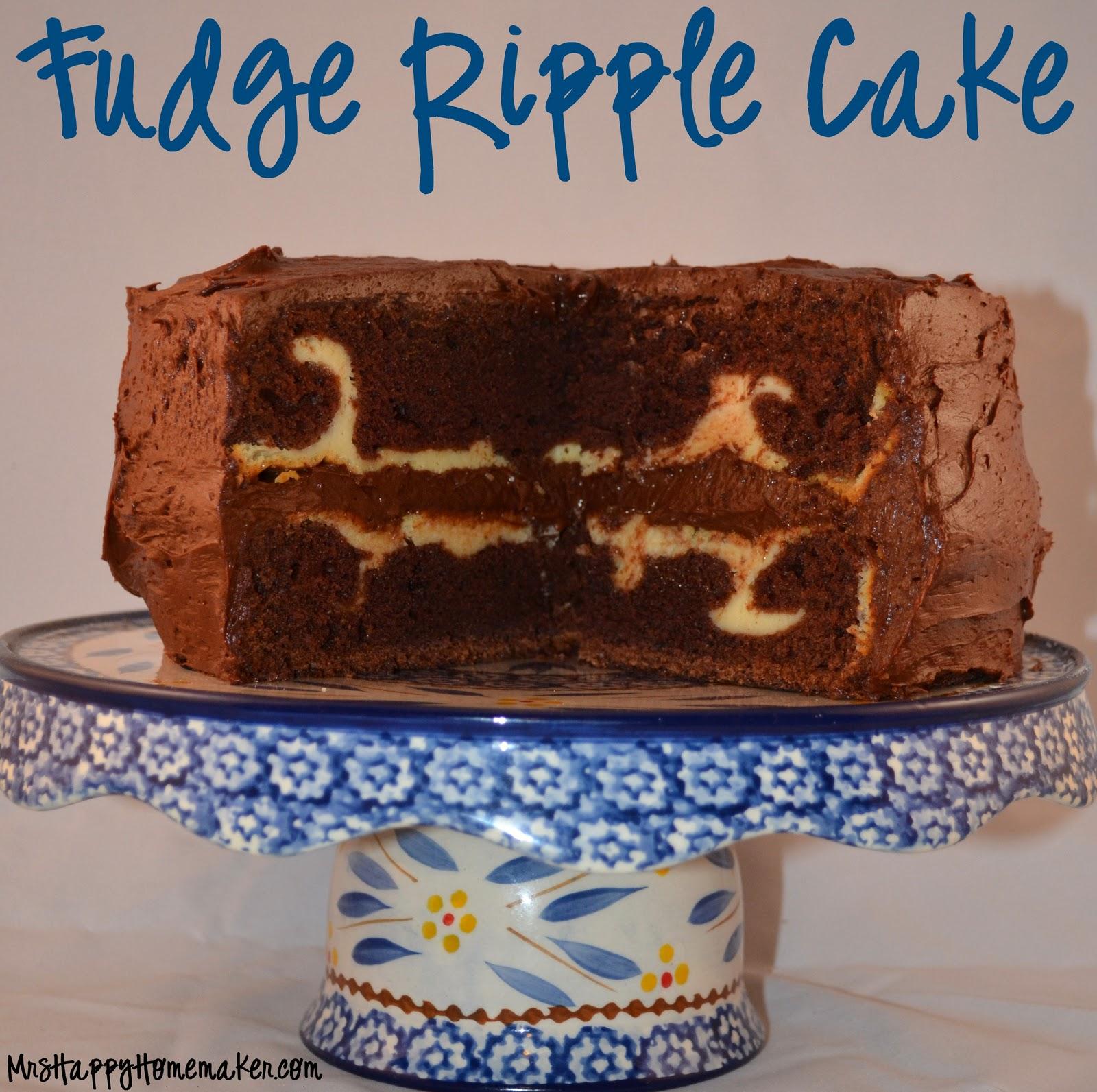 Fudge Ripple Cake Mrs Happy Homemaker
