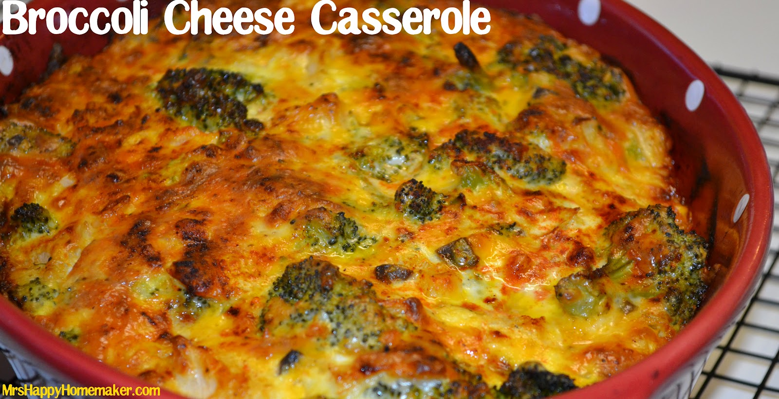 This Broccoli Cheese Casserole is my #1 favorite side dish! It's SO ...