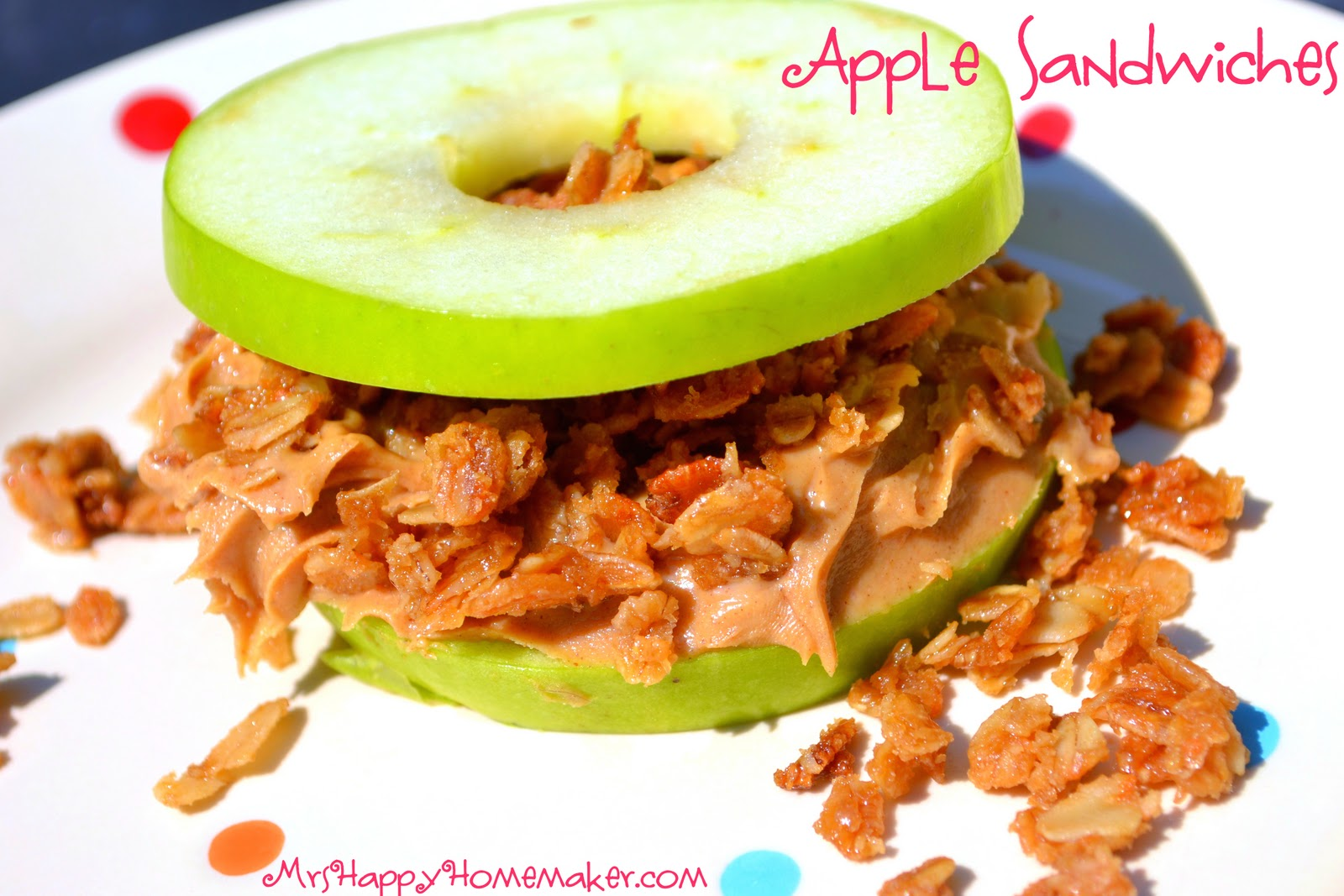Apple Sandwiches - Mrs Happy Homemaker