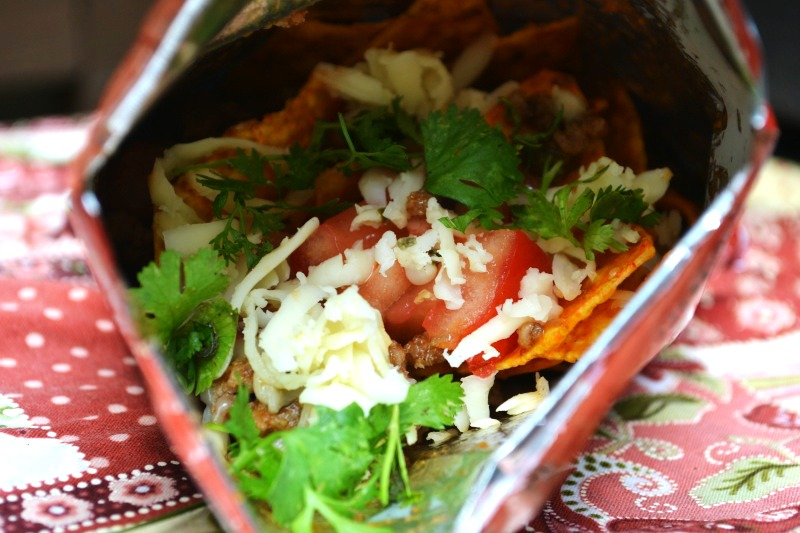 Walking Tacos with Fresh Ingredients - Mrs Happy Homemaker