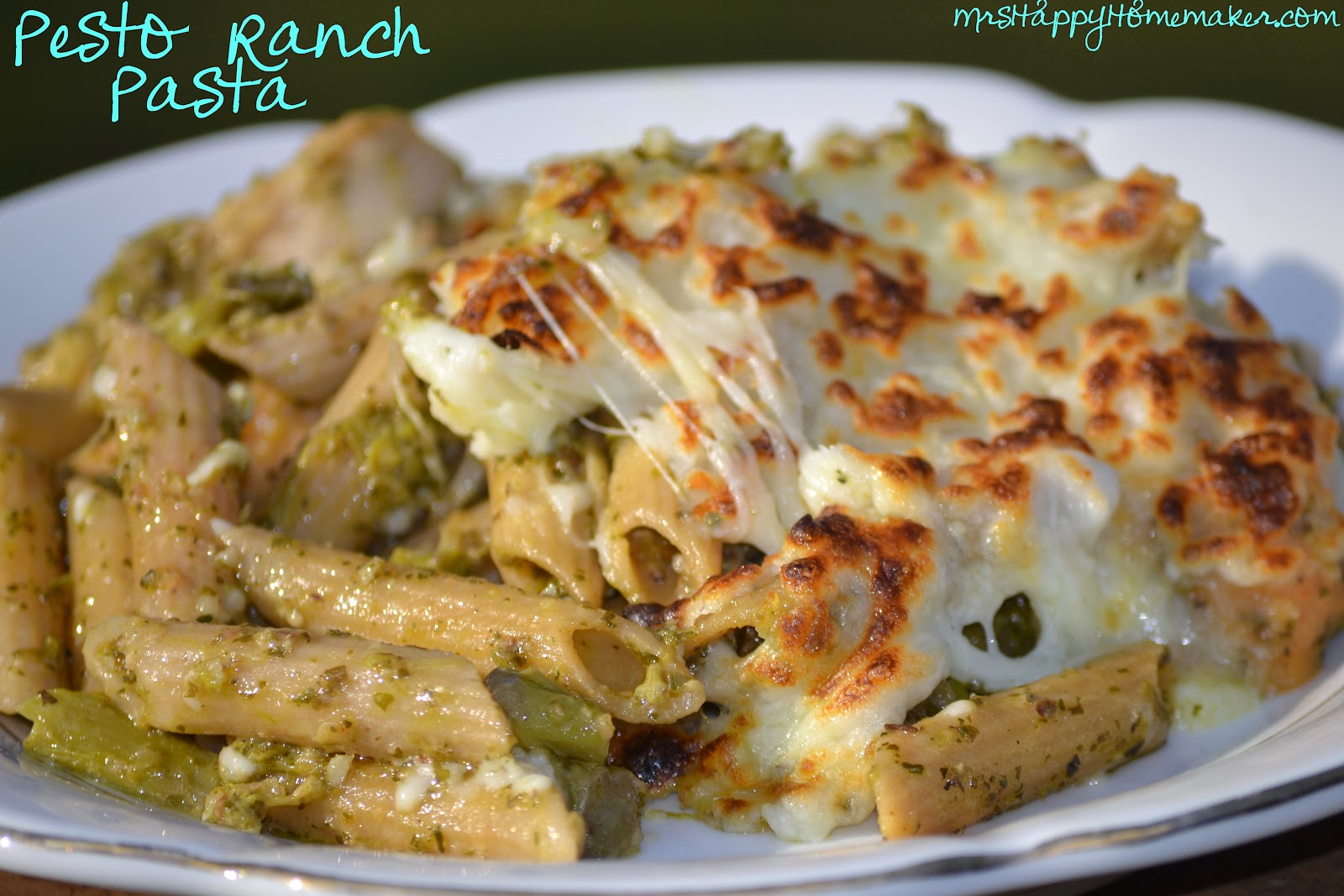 Pesto Ranch Cheesy Pasta Bake