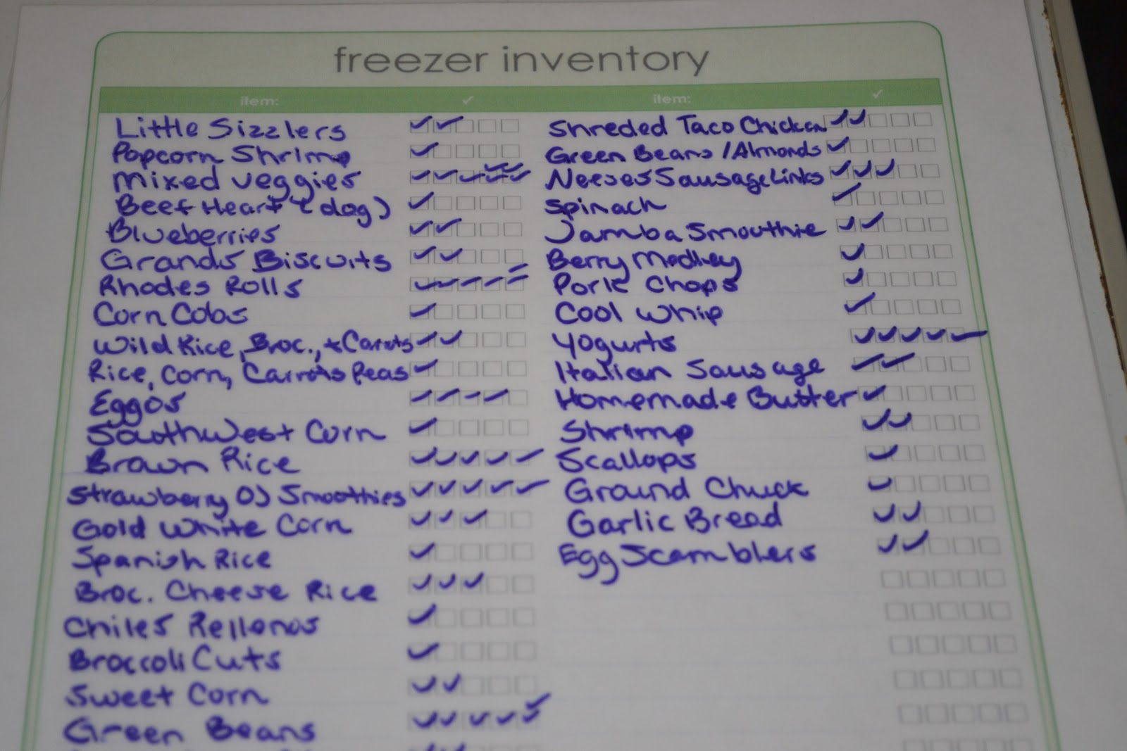 graphic regarding Freezer Inventory Printable identify Understand Whats Within just Your Freezer, Absolutely free Printable Freezer