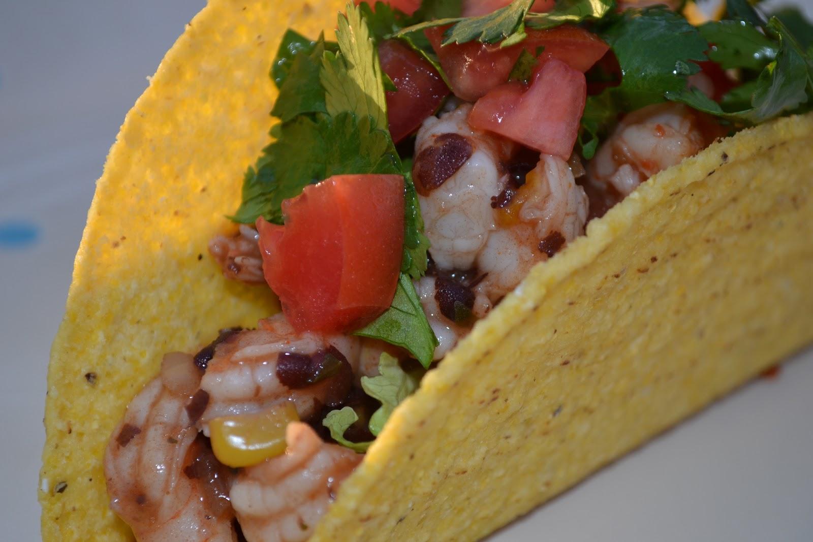 Easy Shrimp Tacos Low In Calories Too Mrs Happy Homemaker