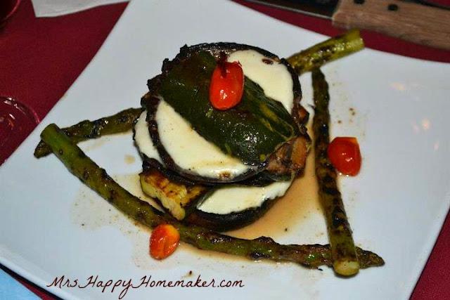 Portobella Stack - Grilled Zucchini, Galbani Mozzarella, Asparagus, Cherry Tomatoes