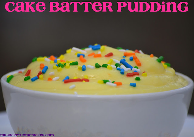 Cake Batter Pudding