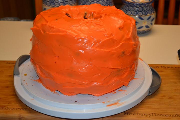 Pumpkin Carrot Cake Shaped Like A Pumpkin Mrs Happy