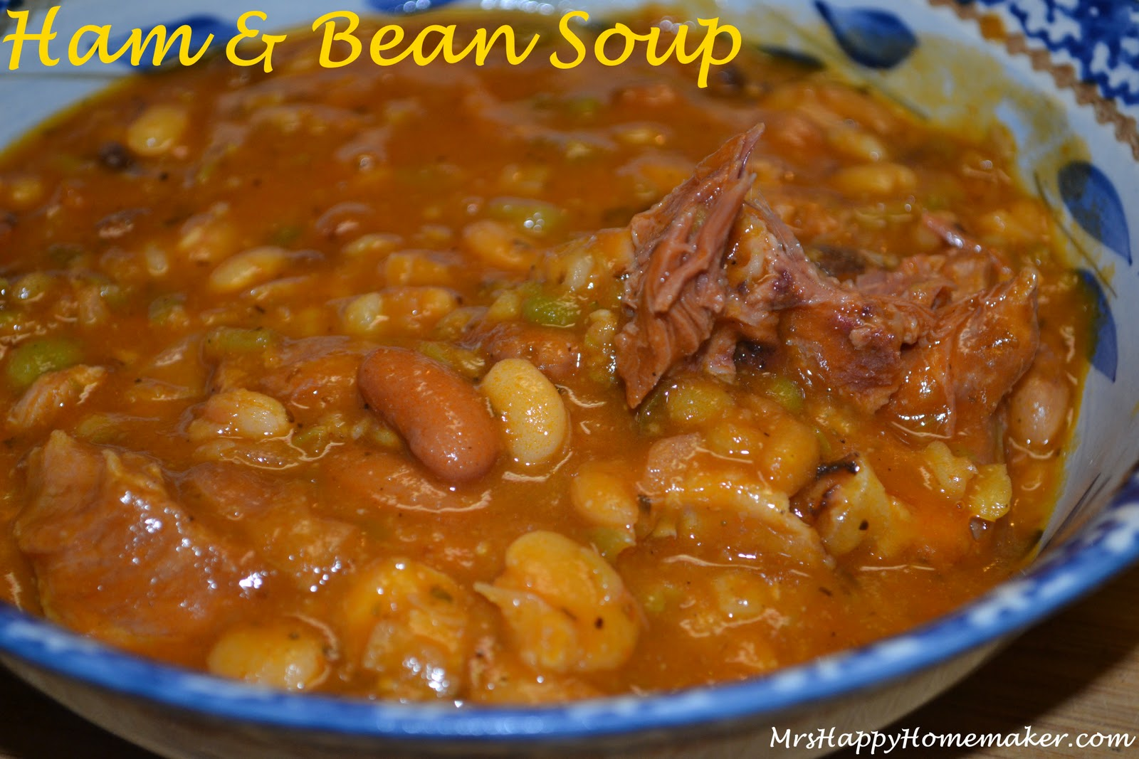 BEST EVER Ham & Bean Soup - Mrs Happy Homemaker