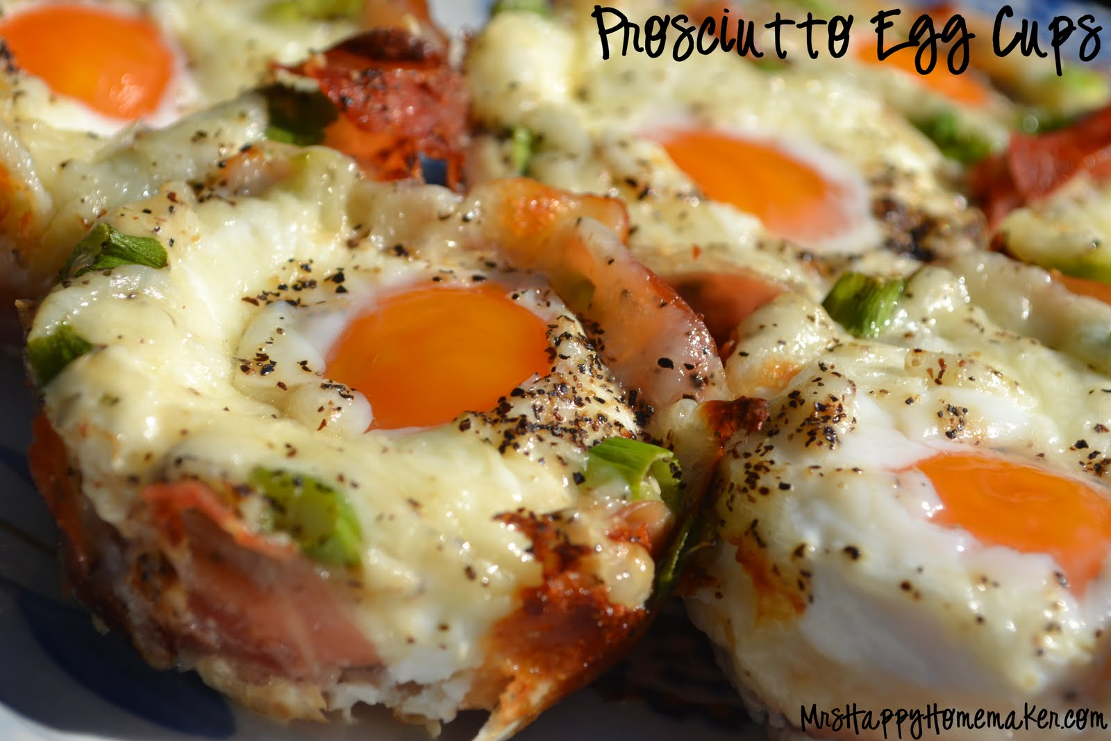 Prosciutto Egg Cups - Mrs Happy Homemaker