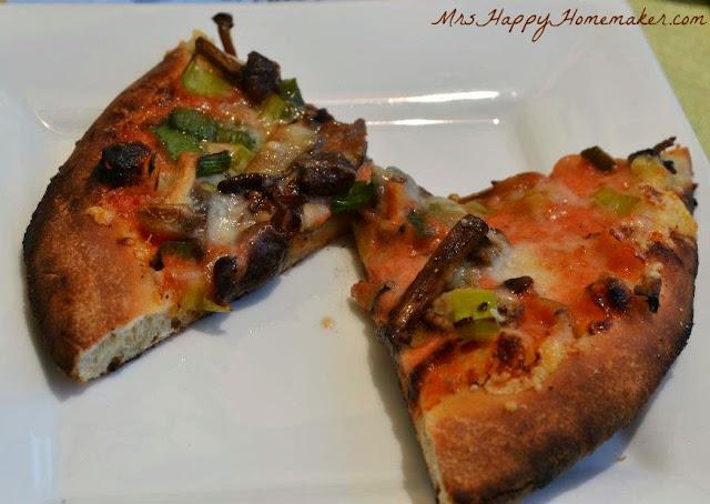 Brick Oven Flatbread - Wild Mushroom Medley, Sauteed Leeks, Smoked Tomato California Creme Fraiche, Fiscalini Farms Lionza
