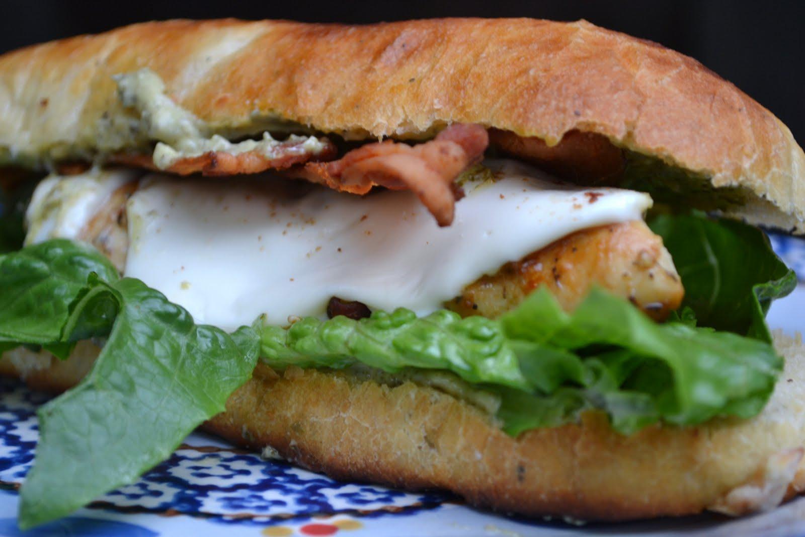 Secret Recipe Club - Pan Seared Chicken Sandwiches w/ Pesto Mayonnaise ...